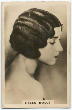 Todays hair 1930's hair and makeup inspiration from this image of Helen D'Algy from 1930