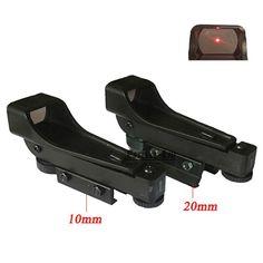 Tactical Reflex Ssight Red Dot Sight Scope Wide View Airgun 10 / 20mm Weaver Rail Mounts 1x20x30 Riflescope Airsoft #Affiliate