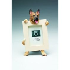 """Help bring your favorite dog breeds to life with this vivid recreation in the form of a picture frame. Holds a 2""""x3"""" Digital or Traditional photo. Makes a great gift for any dog lover. - Man's best fr"""