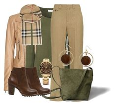 """""""Beige, grønt og brunt."""" by inger-lise on Polyvore featuring Balenciaga, Glamorous, Burberry, Chloé, Abercrombie & Fitch, Erica Lyons, Victorinox Swiss Army and Anna Field"""