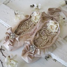 Reserved listing Do Not Purchase Muted pink ballet pointe shoes shabby cottage chic by AnitaSperoDesign on Etsy https://www.etsy.com/listing/229550142/reserved-listing-do-not-purchase-muted