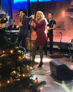 Pregnant Carrie Underwood performed on the Today Show on New Year's Day in a skin-tight dress and heels -- see the rockin' look! Carrie Underwood Pregnant, Carrie Underwood Mike Fisher, Maternity Dresses, Maternity Fashion, Maternity Style, Cole And Savannah, Entertainer Of The Year, Pregnant Celebrities, Small Town Girl