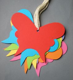 Rainbow Butterfies Wishing Cards to Hang & to Hold by decoraland, €5.99