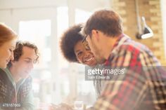 Stock Photo : Friends talking in cafe