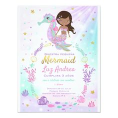 Shop Mermaid Birthday Invitation Under The Sea Party created by PixelPerfectionParty. Mermaid Under The Sea, Under The Sea Theme, Under The Sea Party, The Little Mermaid, Mermaid Invitations, 1st Birthday Invitations, Pink Invitations, Birthday Party Themes, Birthday Ideas