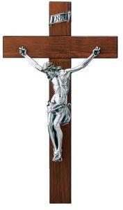 Krzyż ze srebrną figurką Jezusa Chrystusa, stanowi doskonały prezent z okazji jubileuszu. #rocznica #komunia #bierzmowanie