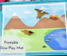 Housewife Eclectic: Printable Dino Play Mat. Create an electronic free road trip with this and other printable play mats on Housewife Eclectic.