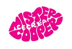 Logo branding for mr cooper ice cream. aimed at adults, it specializes in unique gourmet and alcoholic flavors. copy lines such as 'ice-cream but naughtier' and 'never vanilla' further the playful tone.  | Design Consultancy:  Johnson Banks, London, UK | designboom.com