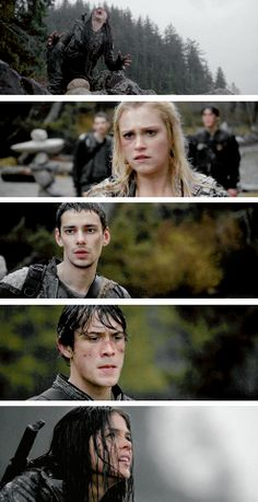octavia, clarke, jasper, and bellamy