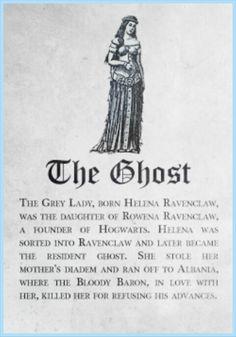 Ravenclaw Ghost: Grey Lady