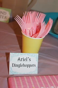 @Marianne Glass Glass Burchard Design Frank Princess Party- Ariel's Dinglehoppers   Love this soooo much <3