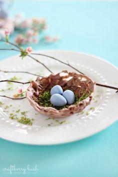 "How to make a chocolate nest bowl ("",)"
