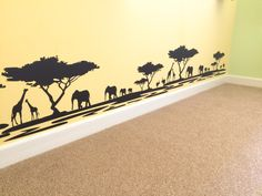 Safari / Lion King themed nursery.  Via - ourfairytaleadventure.com