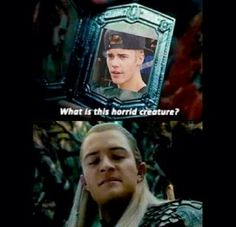 The only thing better than Orlando Bloom punching Justin Bieber would be Legolas punching Justin Bieber. In the face. Repeatedly.
