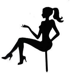 Barbie Theme, Barbie Cake, Barbie Party, Silhouette Cake, Girl Silhouette, Silhouette Design, Diy Cake Topper, Edible Cake Toppers, Birthday Cake Toppers