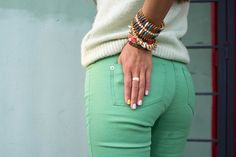 Love green jeans