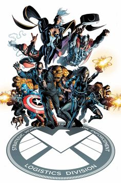 S.H.I.E.L.D. #1 variant cover by Mike Deodato Jr., colours by Edgar Delgado *