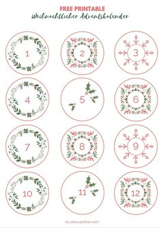 DIY Adventskalender mit Free Printable (Download)