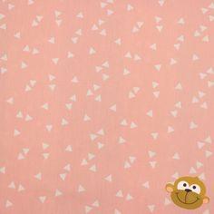 Triangles In Soft Pink  Katoen 7€