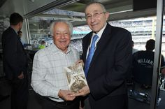 Mark  Schonwetter (L)  and Rabbi Marvin Hier attend the 911 Yankees Event: Simon Wiesenthal Participation at Yankee Stadium on September 11, 2016 in New York City.