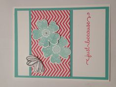 Stampin' Up! Card flowers butterfly