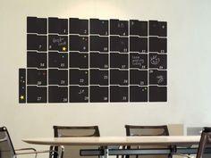 another blackboard calendar