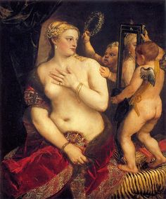 Titian, Venus with a Mirror, 1560 -repinned by http://LinusGallery.com  #art #artists