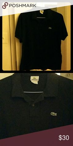 Black Authentic Lacoste Polo (Sz. 6) Selling a medium, or sz. 6 all black Lacoste Polo. Fits great and does not have any damage to it of any kind Lacoste Shirts Polos