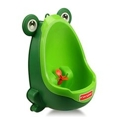 Foryee Cute Frog Potty Training Urinal for Boys with Funny Aiming Target  Blackish Green >>> Visit the image link more details.