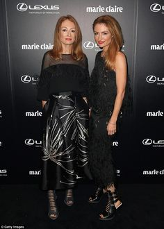 Designers Alexandra and Genevieve Smart of Ginger and Smart showed the fashionistas how it's done in elaborate ensembles Ginger And Smart, Lawyer Fashion, Marie Claire, Kylie, Red Carpet, Awards, Gowns, Lady, Designers