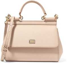 Dolce & Gabbana - Sicily Small Textured-leather Tote - Blush