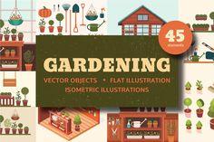 Gardening illustrations - Illustrations