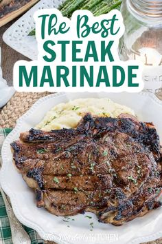 This is seriously the best steak marinade I have ever tried and works on all cuts of steak (and pork!). #steakmarinade #marinaderecipe Steak Marinade Best, Best Steak, Health Dinner, Ribs On Grill, Soul Food, Food Dishes, Seafood, Grilling, Bbq