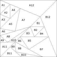 Patchwork pattern: Flying Geese Kaleidoscoop
