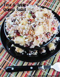 Feta, Apple and Cranberry Quinoa Salad