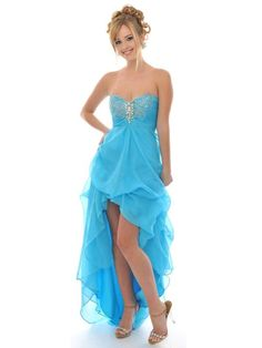Cheap Gorgeous A-Line Sweetheart Chiffon Prom Dress