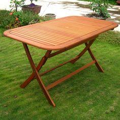 Found it at Wayfair - Royal Tahiti Balau Outdoor Folding Dining Table