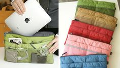 Want. A bag-in-bag for storing all of your gadgets and gizmos on the go.