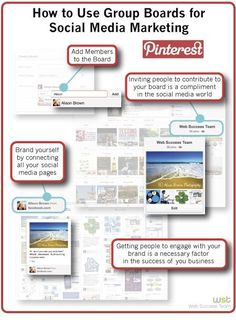 How to use #Pinterest group boards in social media marketing - #infographic