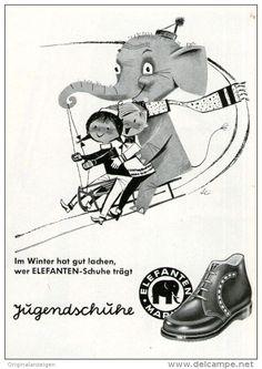 Original-Werbung/ Anzeige 1958 - JUGENDSCHUHE / MARKE ELEFANTEN - ca. 75 x 110 mm