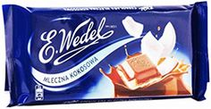 Wedel Milk Chocolate Bar - Coconut Filling(100g) Dark Chocolate Bar, Chocolate Brands, Poland, Goodies, Coconut, Milk, Candy, Food, Polish