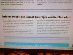 Martijn van Voorst  Gemeentenieuws gemist ? Kijk in het Kompas van vrijdag 7 feb 14. Informatiebijeenkomst buurtpreventie Maasdam