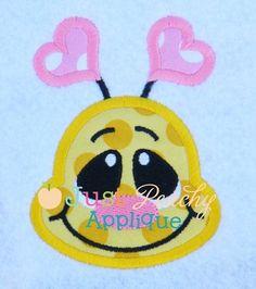 Bee Face Applique Design