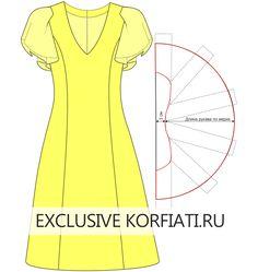 Neckline dress pattern