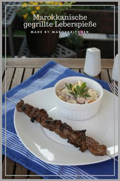 Gegrillte Leber marokkanischer Art Grilled lamb or beef liver based on a recipe from Morocco. Seasoned with cumin, salt, and paprika in olive oil. Moroccan Style, Bbq, Pudding, Meat, Desserts, Anxiety Treatment, Ramadan, Snacks, Natural
