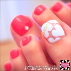 Find images and videos about nail art and pedicure on We Heart It - the app to get lost in what you love. Pretty Toe Nails, Cute Toe Nails, Love Nails, How To Do Nails, Pink Nails, Pedicure Nail Art, Toe Nail Art, Nail Nail, Feet Nails