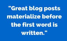 Five steps to take when writing your next blog post.