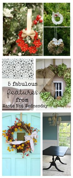 Features from our fun Waste Not Wednesday-20 repurposed and upcycled party this week! Be sure to join us and share your DIY, Home Decor and favourite recipes! | www.raggedy-bits.com | www.mythriftyhouse.com | www.smallhomesoul.com | www.gratefullyvintage.com