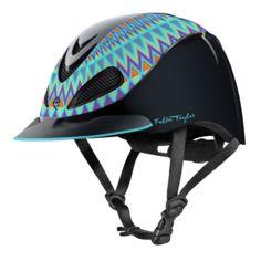 Fallon Taylor by Troxel in Turquoise Aztec. #Helmets
