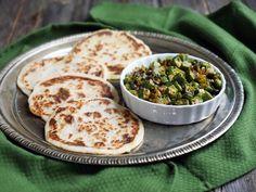 Crispy Indian Okra (Bhindi) Recipe by Ashley of MyHeartBeets.com